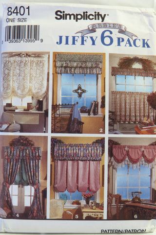 Simplicity 8401 Window Treatments 8 Styles -  - Smiths Depot Sewing Pattern Superstore