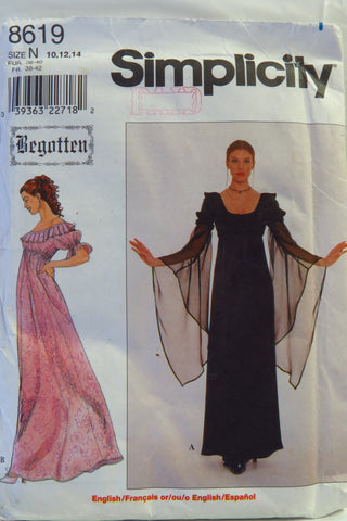 Simplicity 8619 Misses' Dress - N (10-12-14) - Smiths Depot Sewing Pattern Superstore