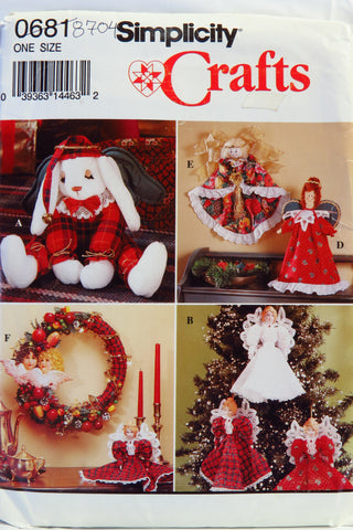 Simplicity 0681 Christmas Decorations -  - Smiths Depot Sewing Pattern Superstore