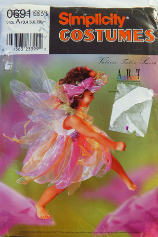 Simplicity 0691 Child's Costume - A (3-4-5-6-7-8) - Smiths Depot Sewing Pattern Superstore