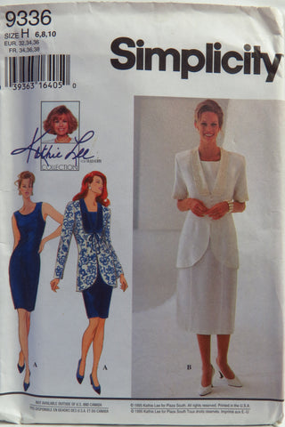 Simplicity 9336 Misses'/Miss Petite Dress and Jacket - H (6-8-10) - Smiths Depot Sewing Pattern Superstore