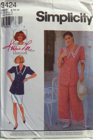 Simplicity 9424 Misses'/Miss Petite Pantsuit or Two-Piece Dress - K (8-10-12) - Smiths Depot Sewing Pattern Superstore  - 1