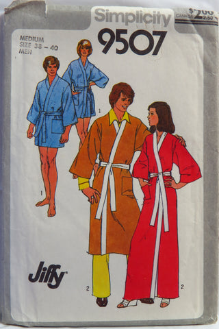 Simplicity 9507 Men's or Misses' Jiffy Kimono Robe in Two Lengths -  - Smiths Depot Sewing Pattern Superstore