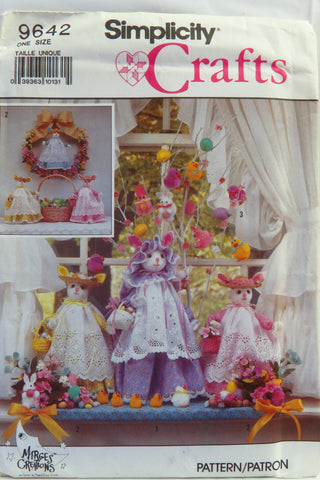 Simplicity 9642 Decorative Bunnies and Pom-Pon Ornaments -  - Smiths Depot Sewing Pattern Superstore