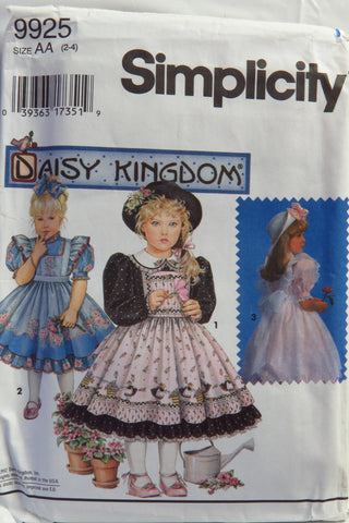 Simplicity 9925 Child's Dress and Pinafores -  - Smiths Depot Sewing Pattern Superstore