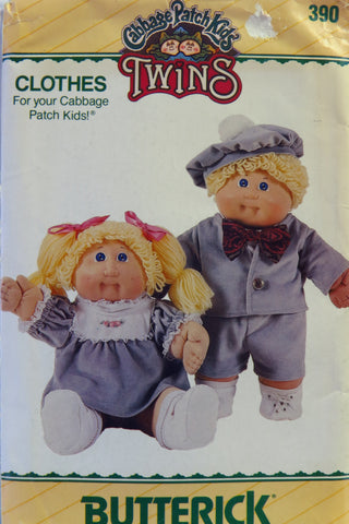 Butterick 0390 Cabbage Patch Kids Clothes -  - Smiths Depot Sewing Pattern Superstore