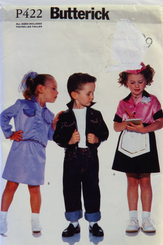Butterick 0422 Children's Costume -  - Smiths Depot Sewing Pattern Superstore