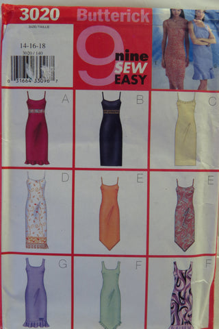 Butterick 3020 Misses' Petite Dress - 14-16-18 - Smiths Depot Sewing Pattern Superstore