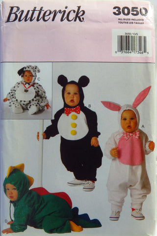 Butterick 3050 Babies' Costumes -  - Smiths Depot Sewing Pattern Superstore
