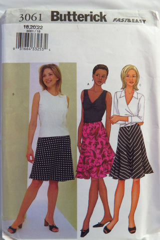 Butterick 3061 Misses' Skirt -  - Smiths Depot Sewing Pattern Superstore
