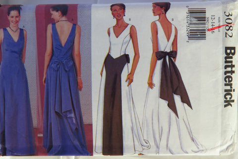 Butterick 3082 Misses' Evening Dress - 12-14-16 - Smiths Depot Sewing Pattern Superstore  - 1