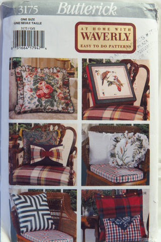 Butterick 3175 Easy to Do Pillows -  - Smiths Depot Sewing Pattern Superstore