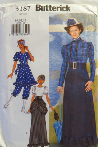 Butterick 3187 Misses' Costume -  - Smiths Depot Sewing Pattern Superstore
