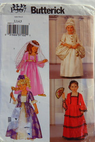 Butterick 0367 Child's Costume - 2-3-4-5 - Smiths Depot Sewing Pattern Superstore