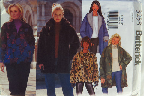 Butterick 3258 Misses' Jacket - 8-10-12 - Smiths Depot Sewing Pattern Superstore