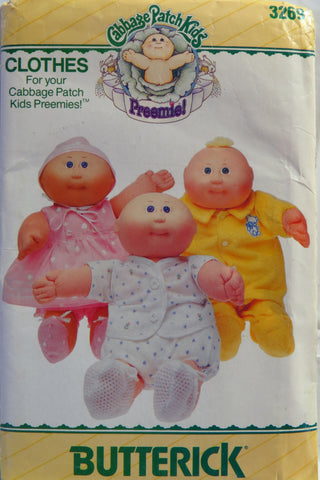 Butterick 3269 Cabbage Patch Kids Preemie! Doll Clothes -  - Smiths Depot Sewing Pattern Superstore