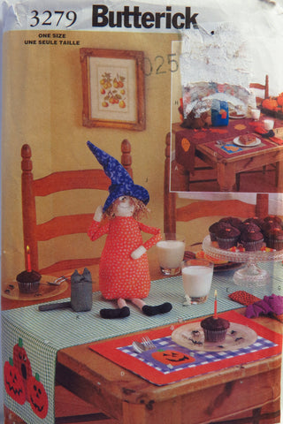 Butterick 3279 Fall/Halloween Table Top -  - Smiths Depot Sewing Pattern Superstore