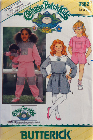 Butterick 3362 Children's Top, Shorts, Pants, Culottes and Transfers -  - Smiths Depot Sewing Pattern Superstore