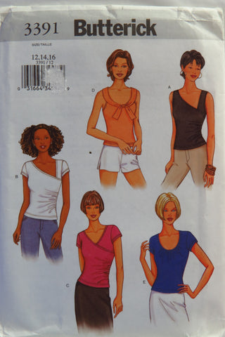 Butterick 3391 Misses' Top - 12-14-16 - Smiths Depot Sewing Pattern Superstore