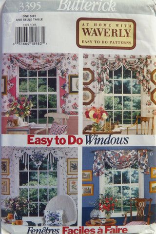 Butterick 3395 Window Treatment -  - Smiths Depot Sewing Pattern Superstore