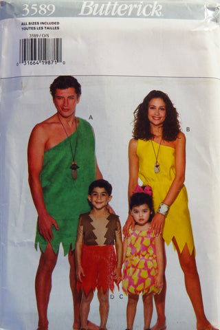 Butterick 3589 Adult's/Child's Costume -  - Smiths Depot Sewing Pattern Superstore