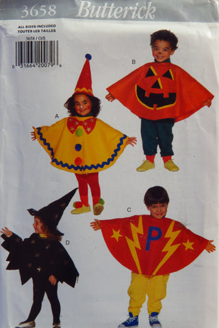 Butterick 3658 Toddlers' Costume -  - Smiths Depot Sewing Pattern Superstore