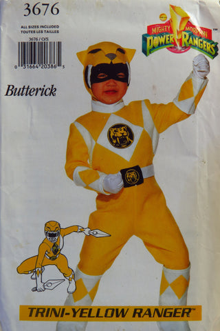 Butterick 3676 Child's Costume with Transfer -  - Smiths Depot Sewing Pattern Superstore