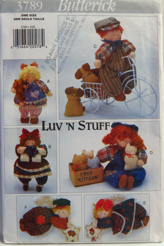Butterick 3789 Best Friends Doll -  - Smiths Depot Sewing Pattern Superstore