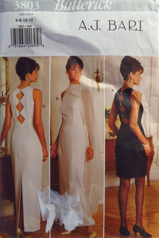 Butterick 3803 Misses' Special Occasion Dress & Stole - 6-8-10-12 - Smiths Depot Sewing Pattern Superstore