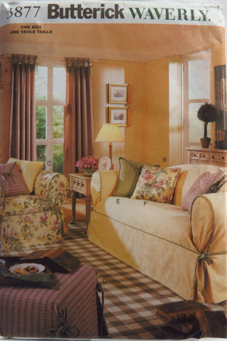 Butterick 3877 Drapes, Slipcovers and Pillows -  - Smiths Depot Sewing Pattern Superstore