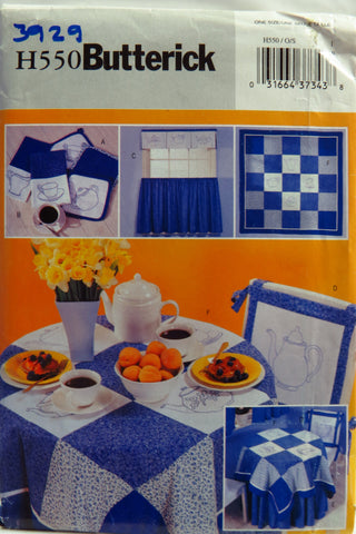 Butterick 0550 Kitchen Accessories Bluework -  - Smiths Depot Sewing Pattern Superstore