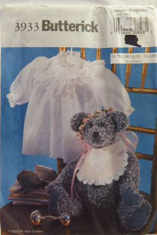"Butterick 3933 16"" Victorian Bear -  - Smiths Depot Sewing Pattern Superstore"