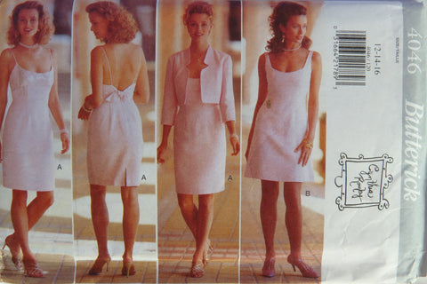 Butterick 4046 Misses' Jacket and Dress - 12-14-16 - Smiths Depot Sewing Pattern Superstore
