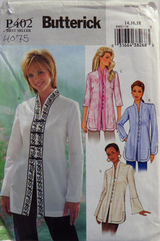 Butterick 0402 Misses'/Misses' Petite Tunic - 14-16-18 - Smiths Depot Sewing Pattern Superstore