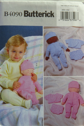 "Butterick 4090 14"" Baby Doll & Clothes -  - Smiths Depot Sewing Pattern Superstore"