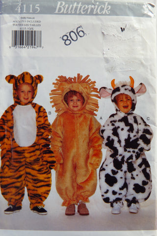 Butterick 4115 Toddlers' Costume -  - Smiths Depot Sewing Pattern Superstore