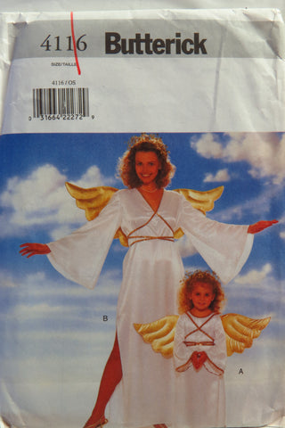 Butterick 4116 Child's/Misses' Angel Costume -  - Smiths Depot Sewing Pattern Superstore