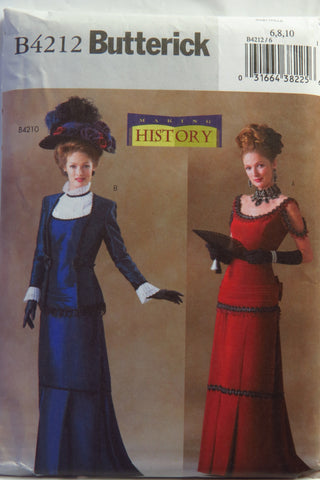 Butterick 4212 Misses' Victorian Costumes -  - Smiths Depot Sewing Pattern Superstore