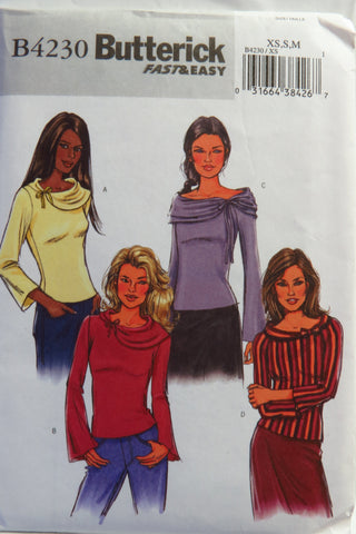 Butterick 4230 Misses'/Misses' Petite Top - XS-S-M - Smiths Depot Sewing Pattern Superstore  - 1