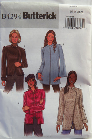 Butterick 4294 Misses'/Misses' Petite Jacket - 16-18-20-22 - Smiths Depot Sewing Pattern Superstore