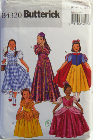 Butterick 4320 Child's Costume -  - Smiths Depot Sewing Pattern Superstore