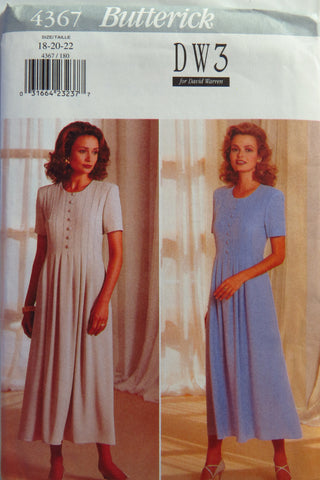 Butterick 4367 Misses'/Misses' Petite Dress - 18-20-22 - Smiths Depot Sewing Pattern Superstore  - 2