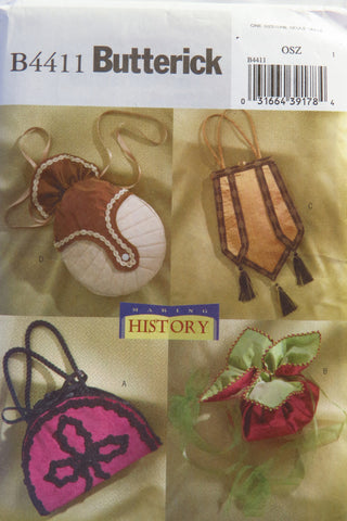 Butterick 4411 Misses' Purses Circa 1890-1910 -  - Smiths Depot Sewing Pattern Superstore