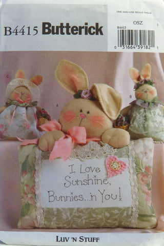 Butterick 4415 Sunshine Bunnies -  - Smiths Depot Sewing Pattern Superstore