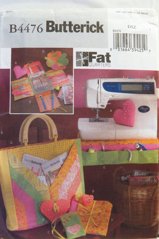 Butterick 4476 Fat Quarters Sewing Accessories -  - Smiths Depot Sewing Pattern Superstore