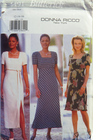 Butterick 4491 Misses' Dress - 12-14-16 - Smiths Depot Sewing Pattern Superstore