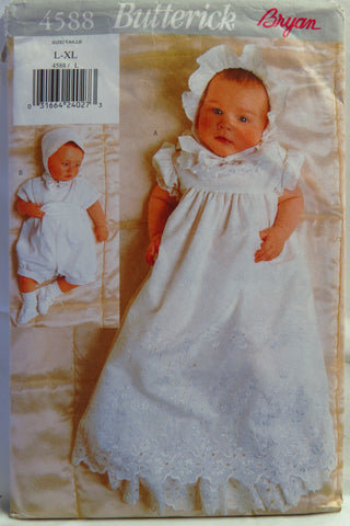 Butterick 4588 Babies' Christening Dress - L-XL - Smiths Depot Sewing Pattern Superstore