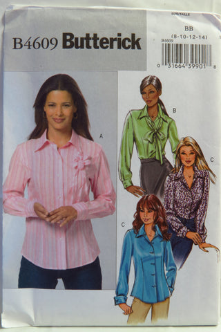 Butterick 4609 Misses' Tops - 8-10-12-14 - Smiths Depot Sewing Pattern Superstore