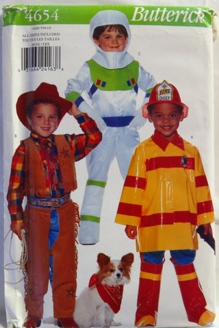 Butterick 4654 Child's Costume -  - Smiths Depot Sewing Pattern Superstore