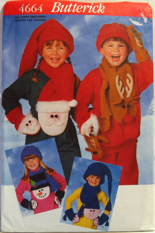 Butterick 4664 Child's Christmas Accessories -  - Smiths Depot Sewing Pattern Superstore
